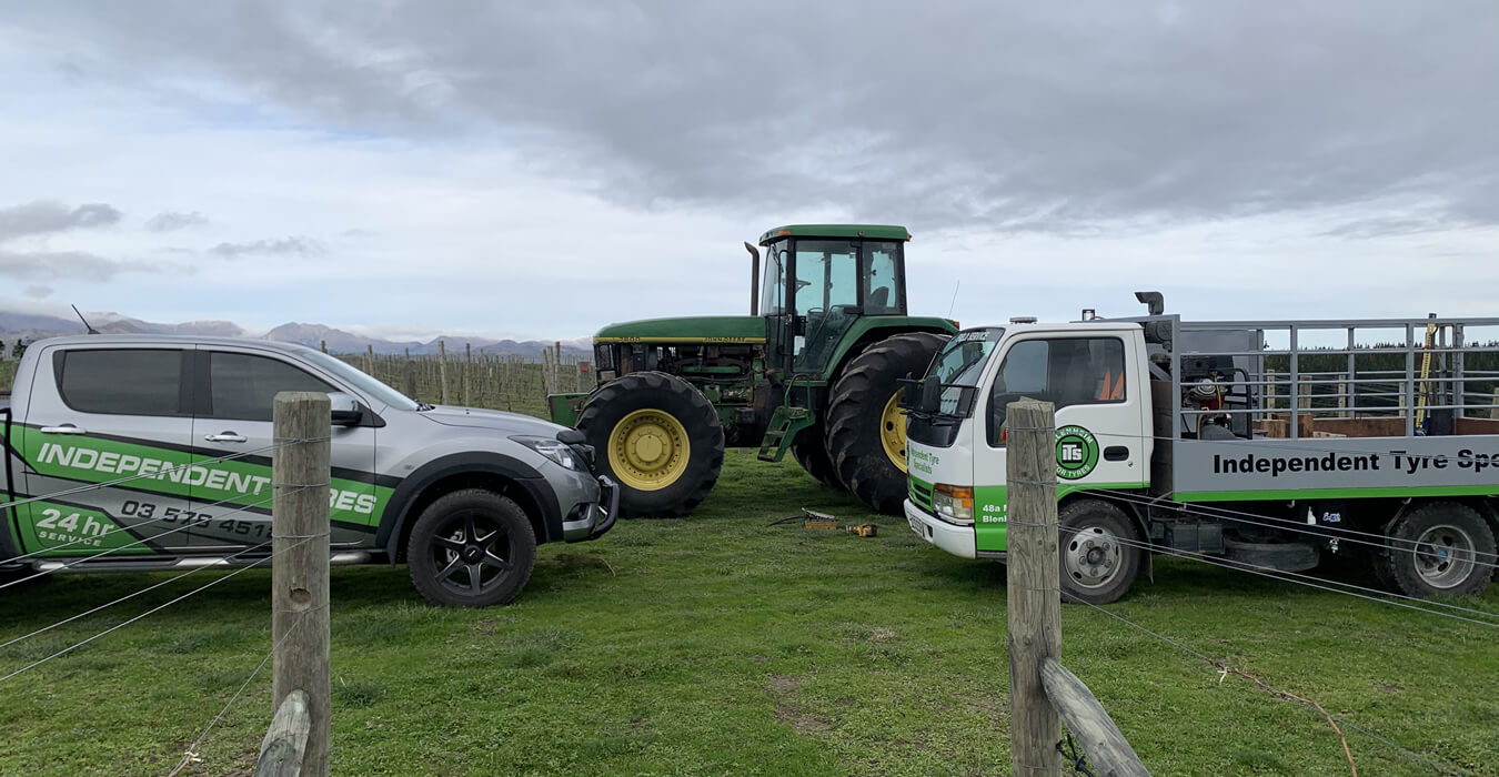 Agricultural Tyre Repairs By Independent Tyre Services Marlborough Ltd In Blenheim NZ
