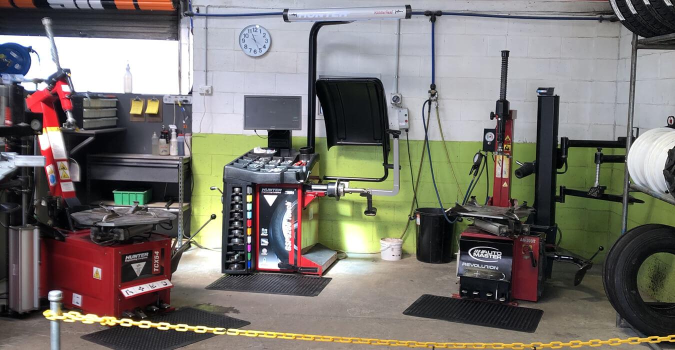 Main Workshop Area At Independent Tyre Services Marlborough Ltd In Blenheim NZ